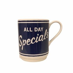 Kate Spade Blue All Day Special Coffee Mug